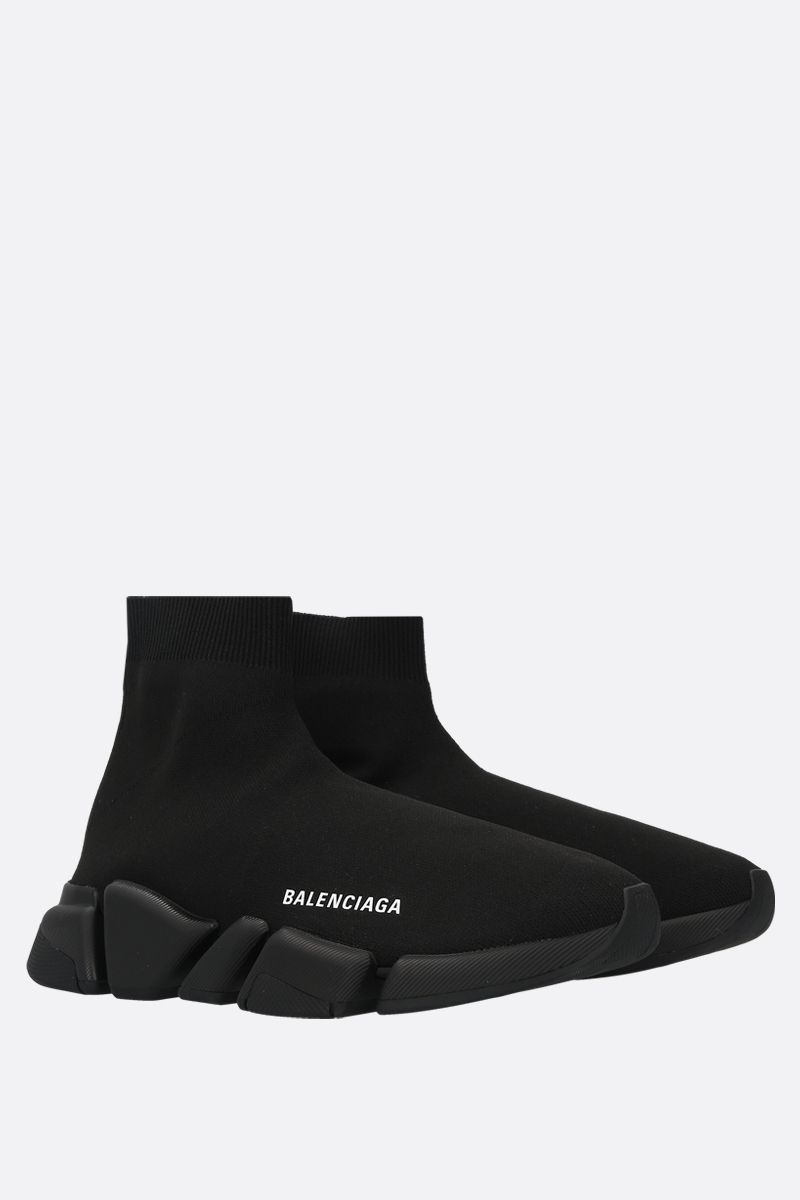 BALENCIAGA: Speed stretch knit trainers Color Black_2