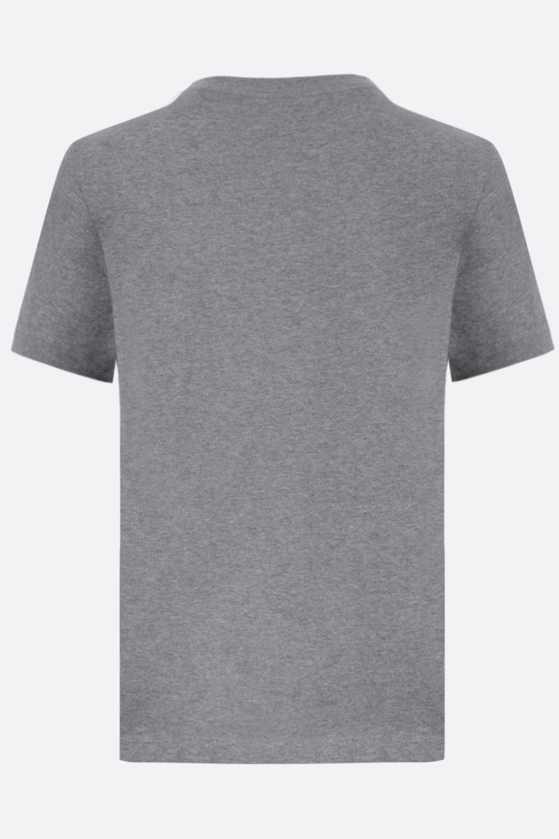 BALENCIAGA: BB logo print cotton t-shirt Color Grey_2