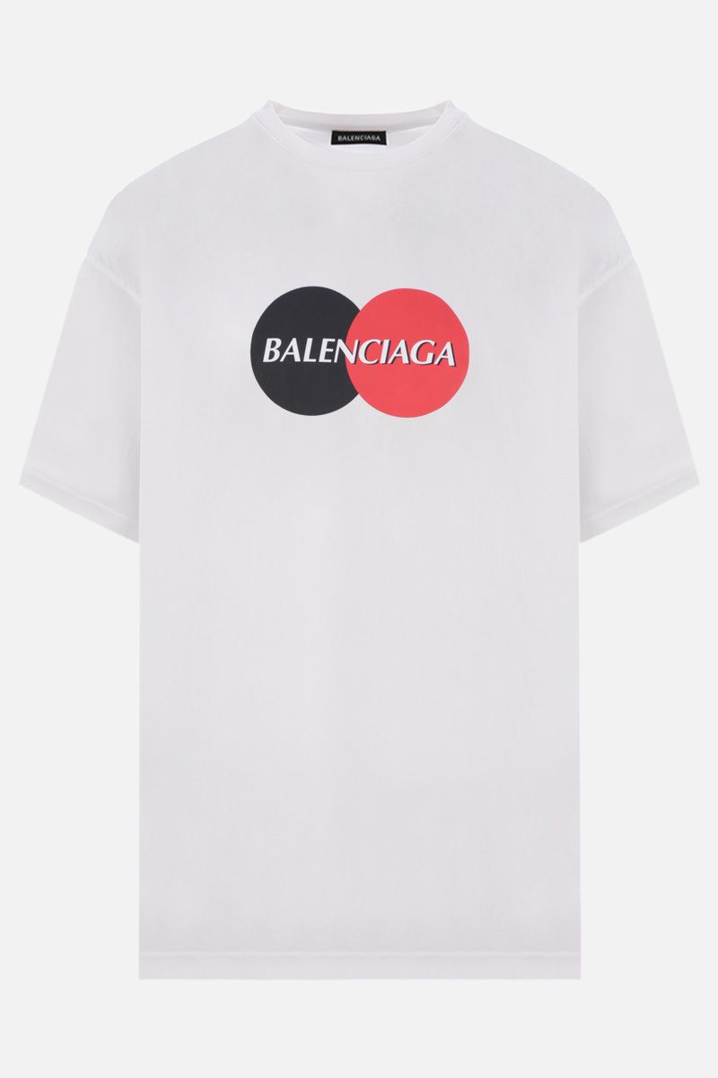 BALENCIAGA: Uniform cotton oversized t-shirt Color White_1