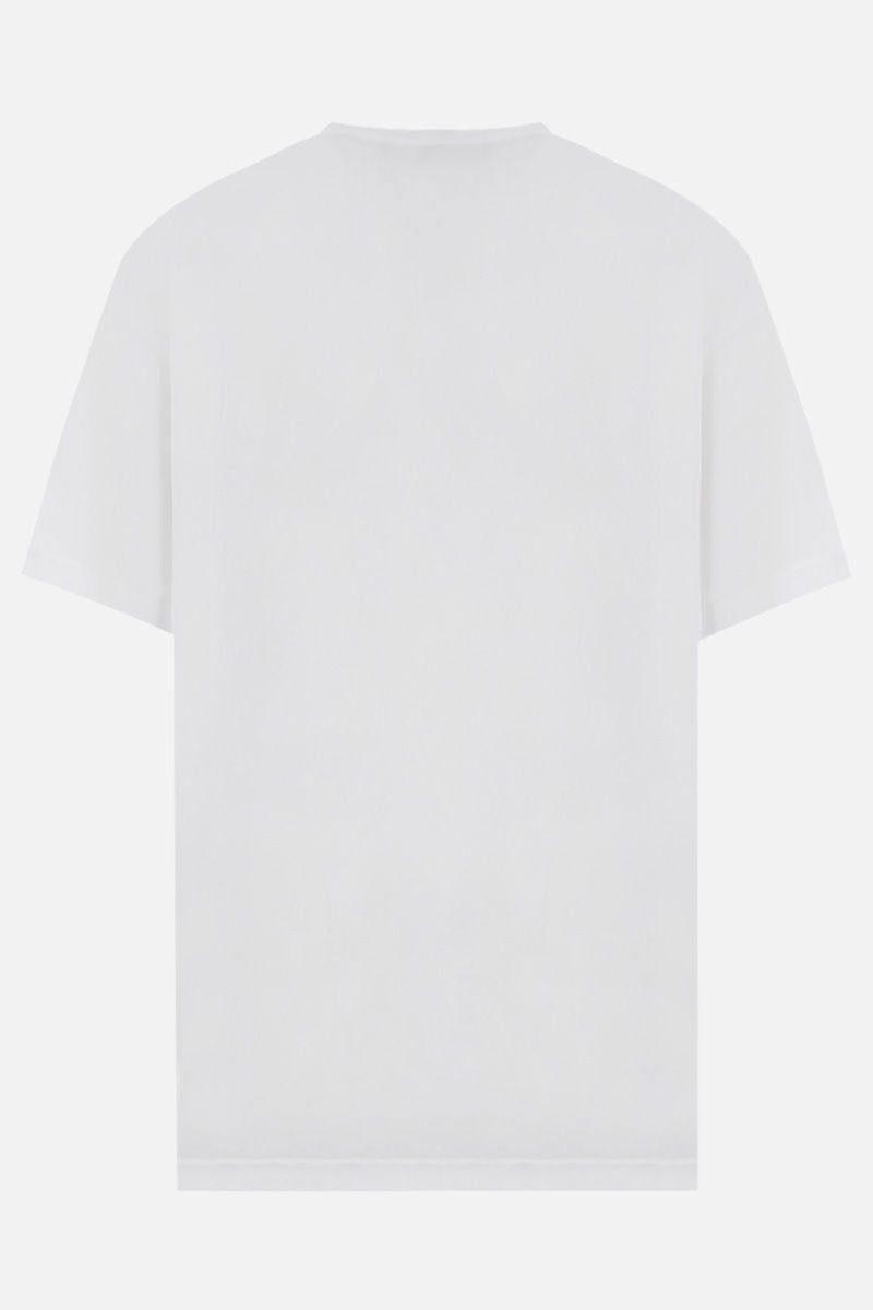 BALENCIAGA: Uniform cotton oversized t-shirt Color White_2
