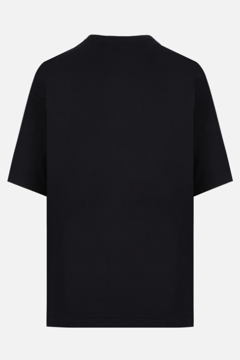 BALENCIAGA: X-Rated print cotton oversized t-shirt Color Black_2