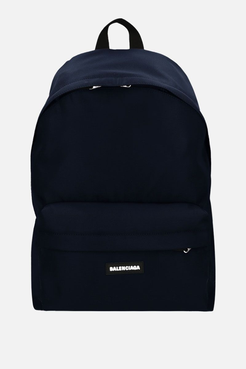 BALENCIAGA: Explorer large nylon backpack Color Blue_1