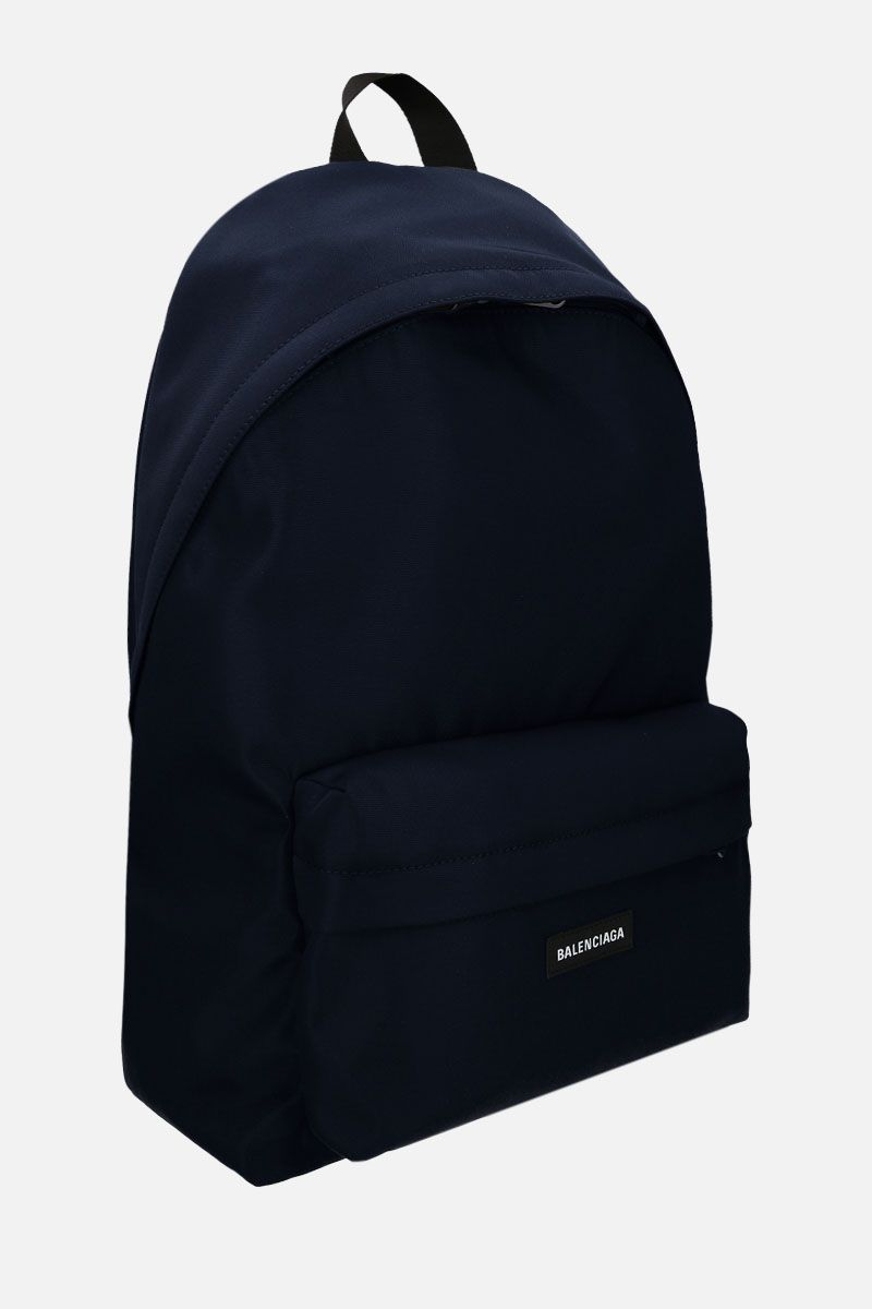 BALENCIAGA: Explorer large nylon backpack Color Blue_2