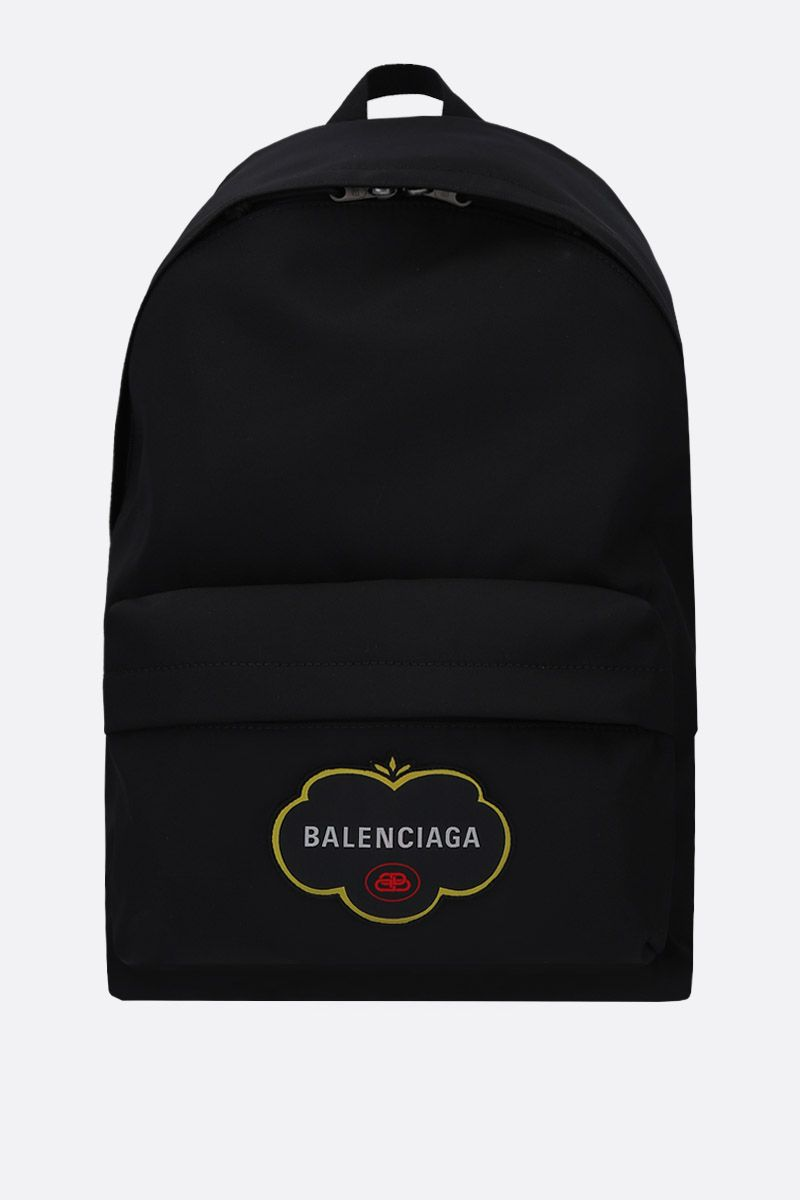 BALENCIAGA: Explorer large nylon backpack Color Black_1