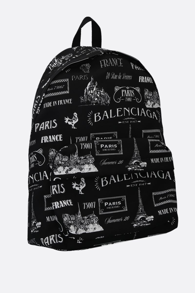 BALENCIAGA: Wheel nylon backpack Color Black_2