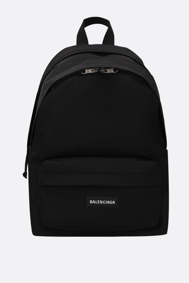 BALENCIAGA: Explorer Double nylon backpack Color Black_1