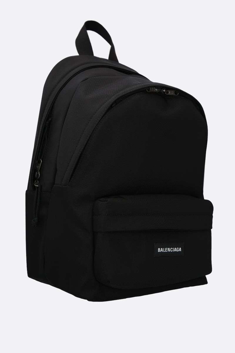 BALENCIAGA: Explorer Double nylon backpack Color Black_2
