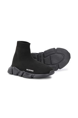 BALENCIAGA KIDS: Speed stretch knit sneakers Color Black_2