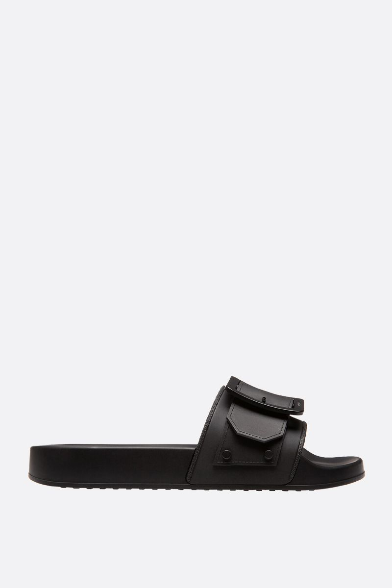 BALLY: Jeline rubber slide sandals Color Black_1