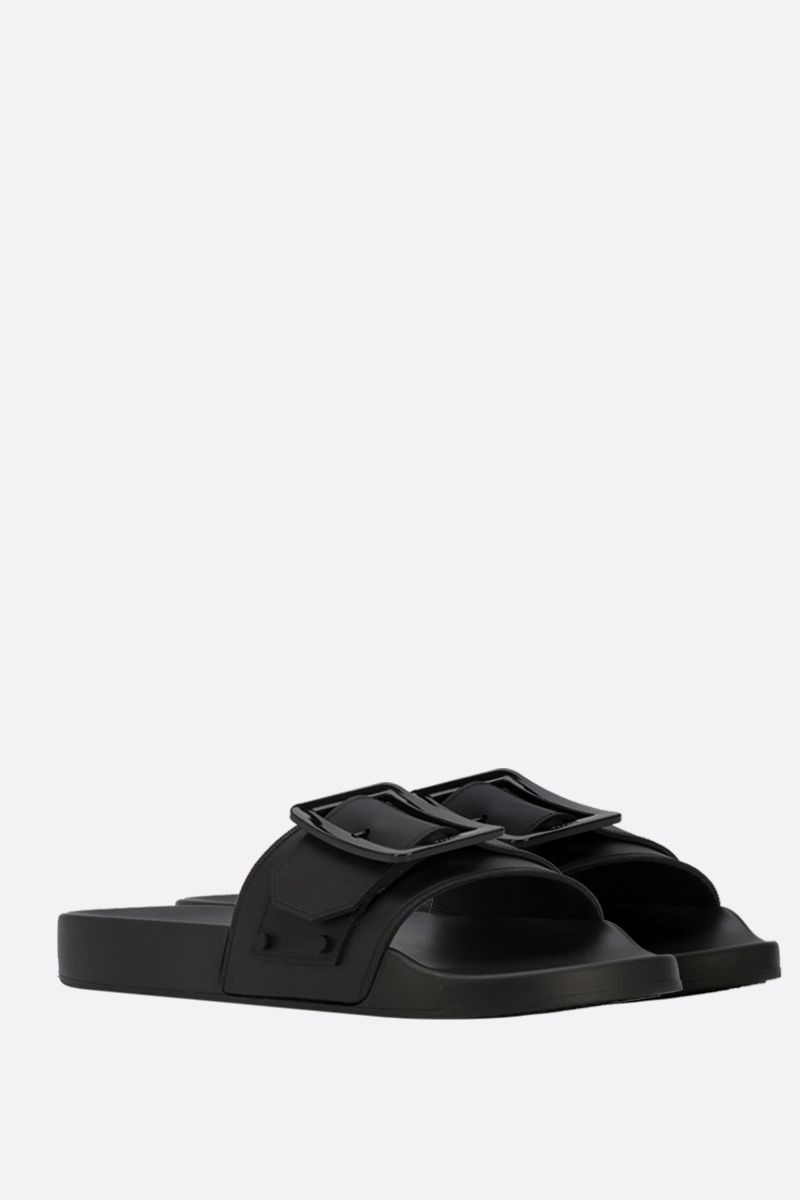 BALLY: Jeline rubber slide sandals Color Black_2