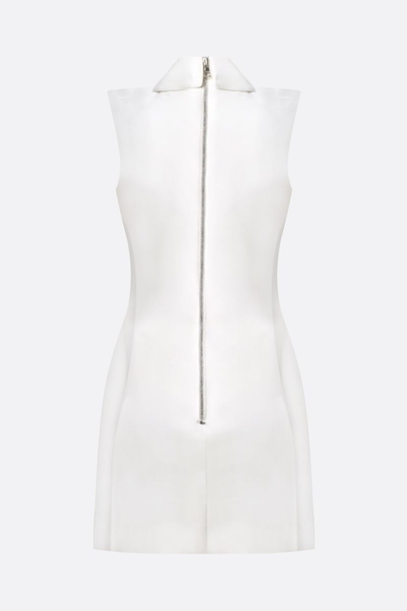 BALMAIN: wool sleeveless minidress Color White_3