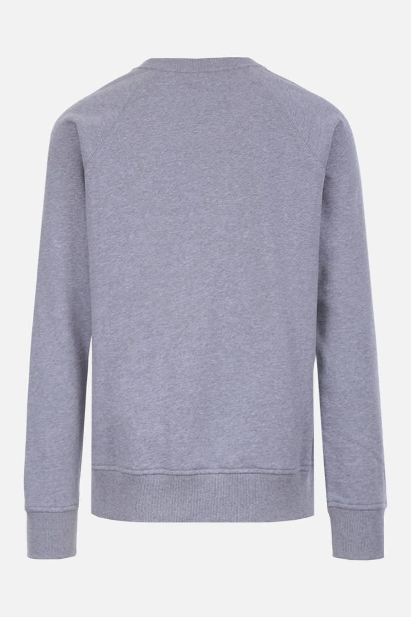 BALMAIN: logo print cotton sweatshirt Color Grey_2