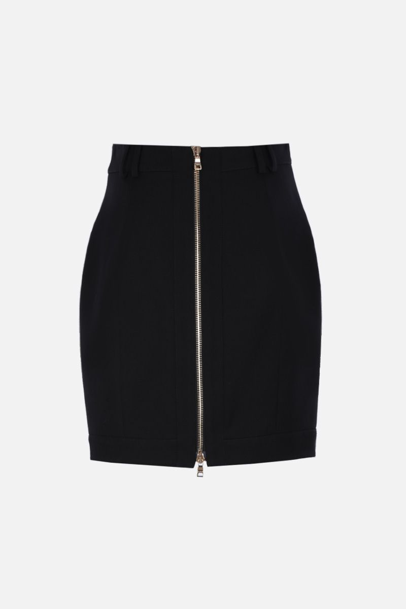 BALMAIN: wool miniskirt with decorative buttons Color Black_2