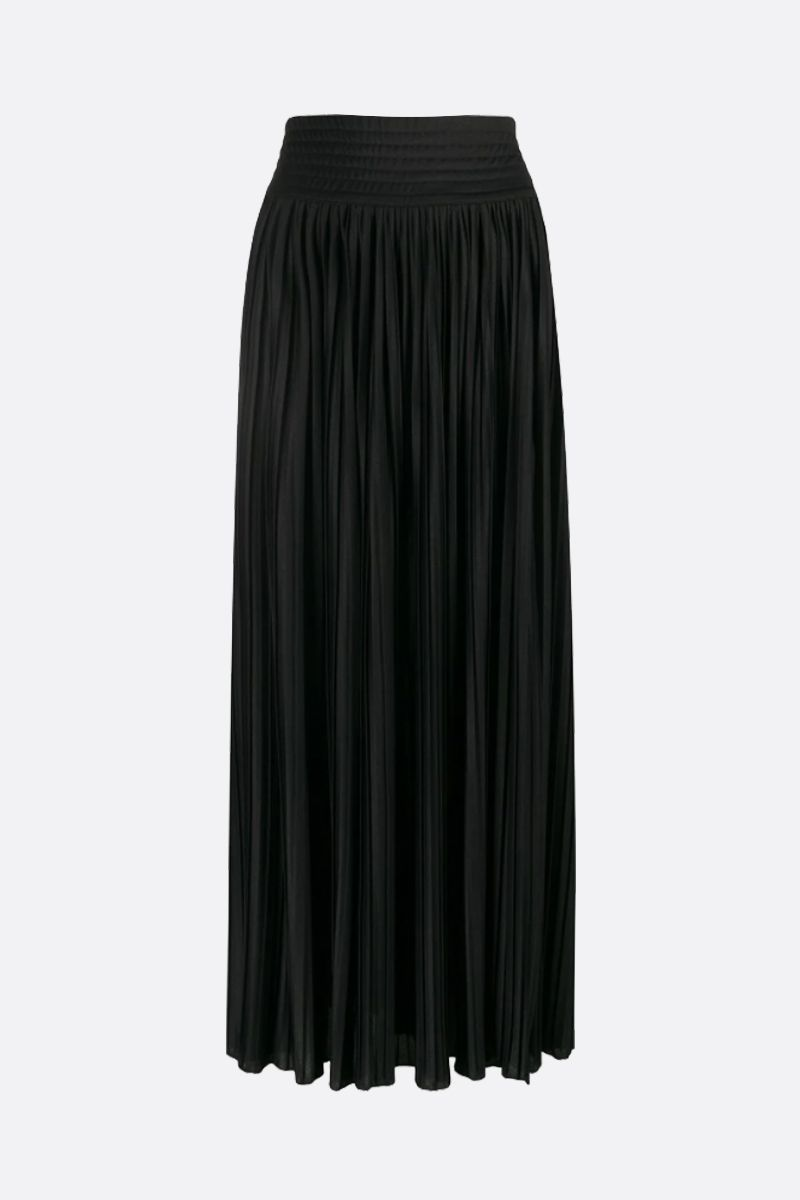 BALMAIN: jersey pleated skirt Color Black_1