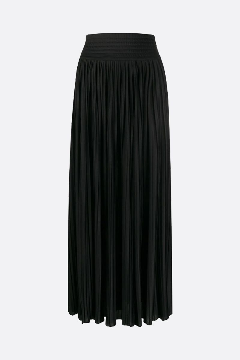 BALMAIN: jersey pleated skirt Color Black_2