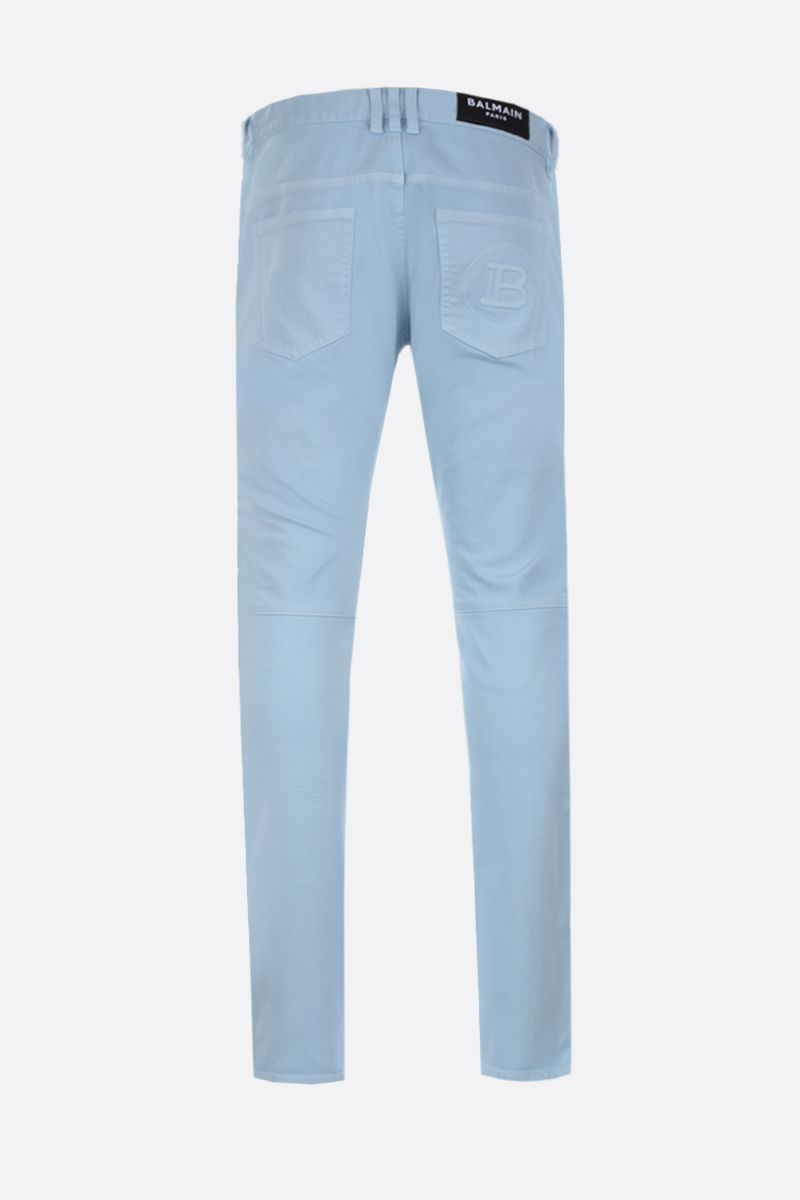BALMAIN: slim-fit biker jeans Color Blue_2