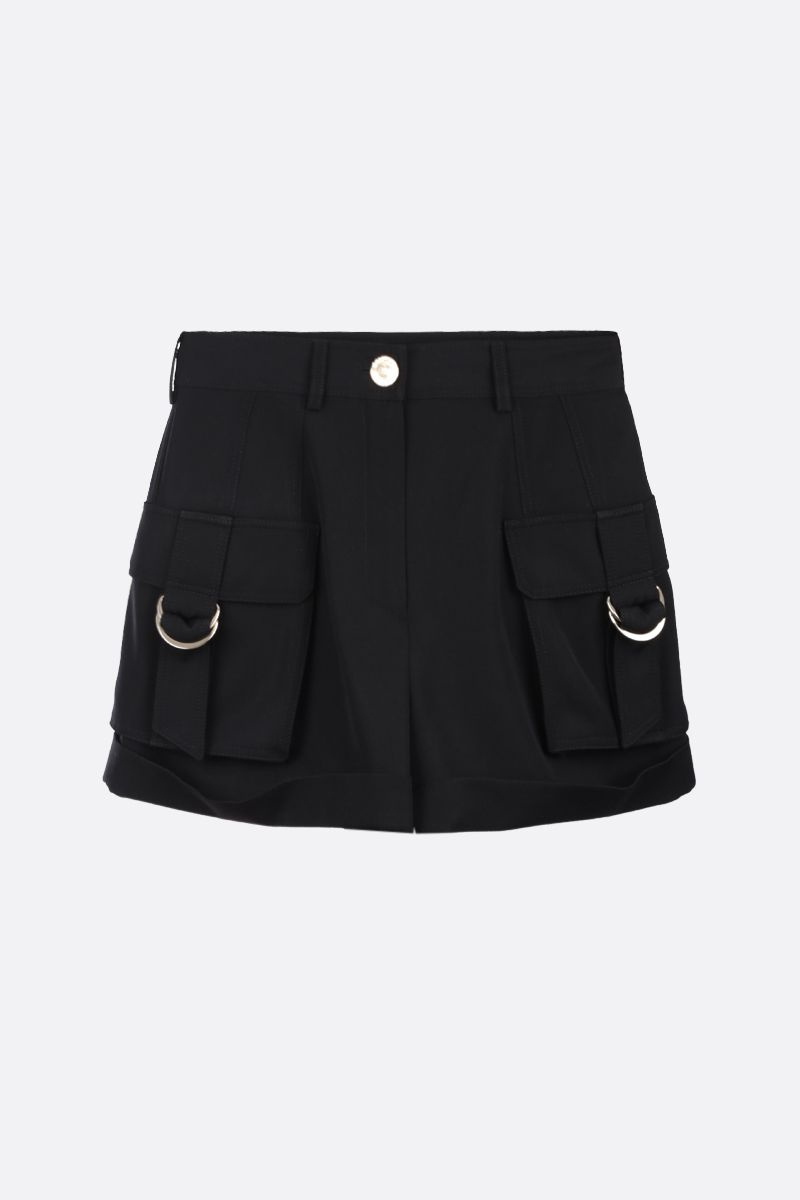 BALMAIN: wool cargo shorts Color Black_1