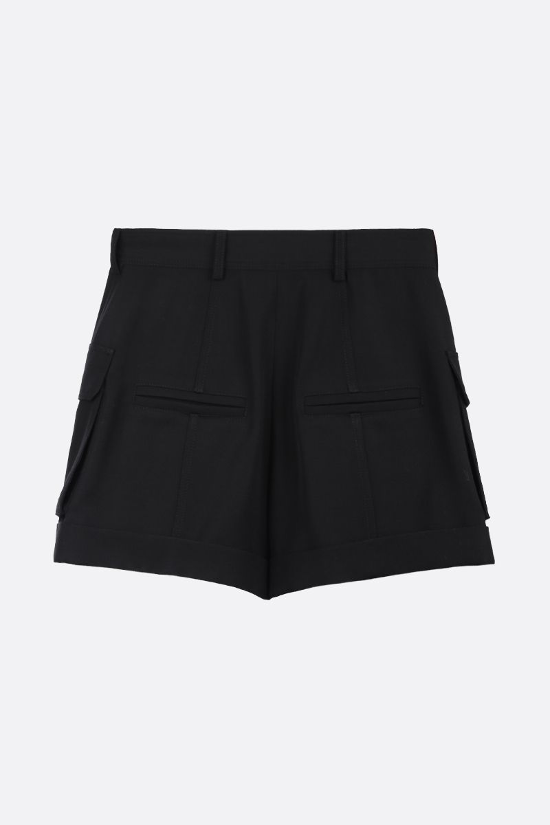 BALMAIN: wool cargo shorts Color Black_2