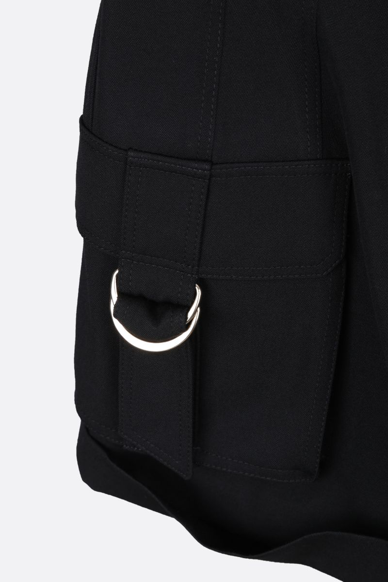 BALMAIN: wool cargo shorts Color Black_4