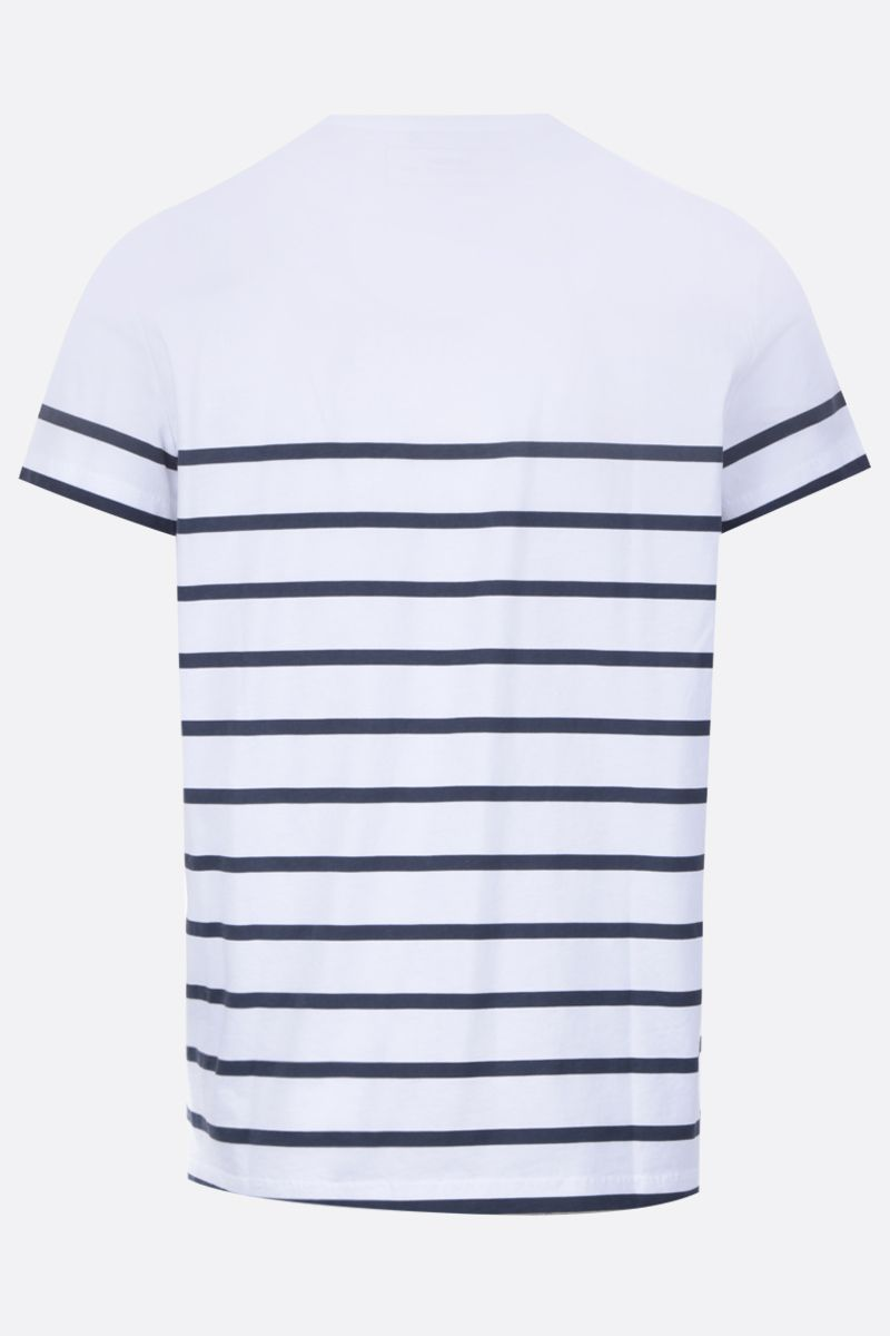 BALMAIN: Balmain logo print striped cotton t-shirt Color Multicolor_2