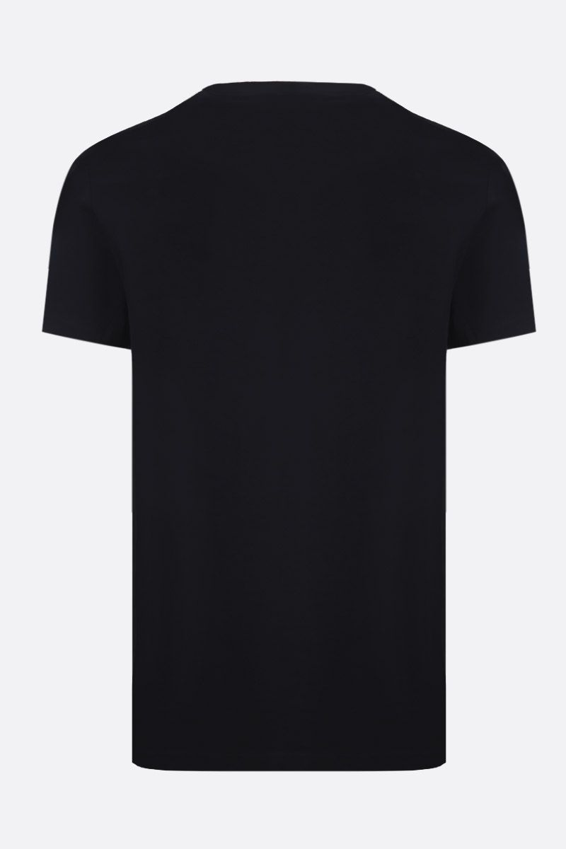 BALMAIN: t-shirt in jersey stampa Balmain Paris Colore Nero_2