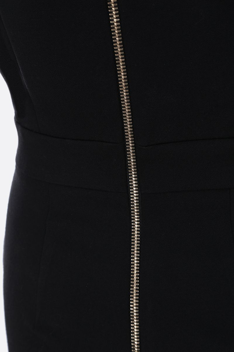 BALMAIN: decorative buttons-detailed wool jumpsuit Color Black_3
