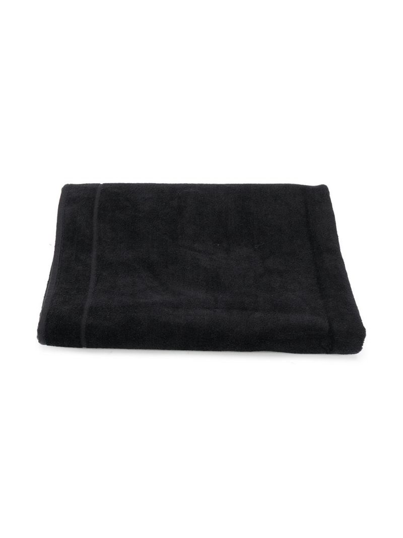 BALMAIN KIDS: Balmain logo-detailed cotton beach towel Color Black_1