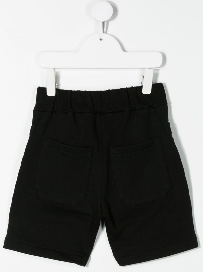 BALMAIN KIDS: cotton shorts Color Black_2