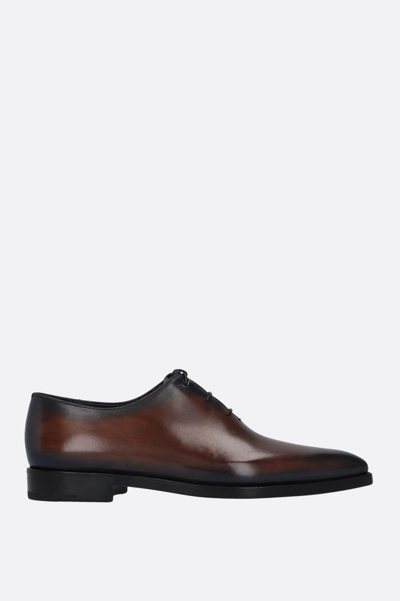 BERLUTI: Alessandro Dèmesure oxford shoes in Venezia leather Color Blue_1