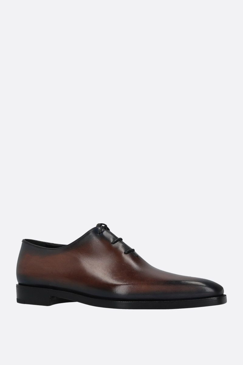 BERLUTI: Alessandro Dèmesure oxford shoes in Venezia leather Color Blue_2