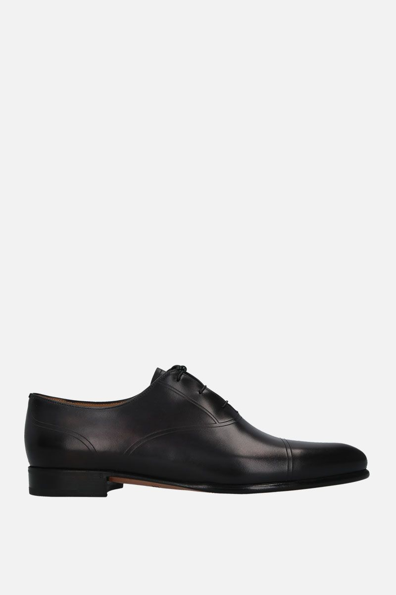 BERLUTI: shiny leather oxford shoes Color Black_1