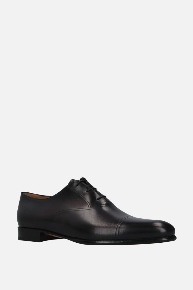 BERLUTI: shiny leather oxford shoes Color Black_2