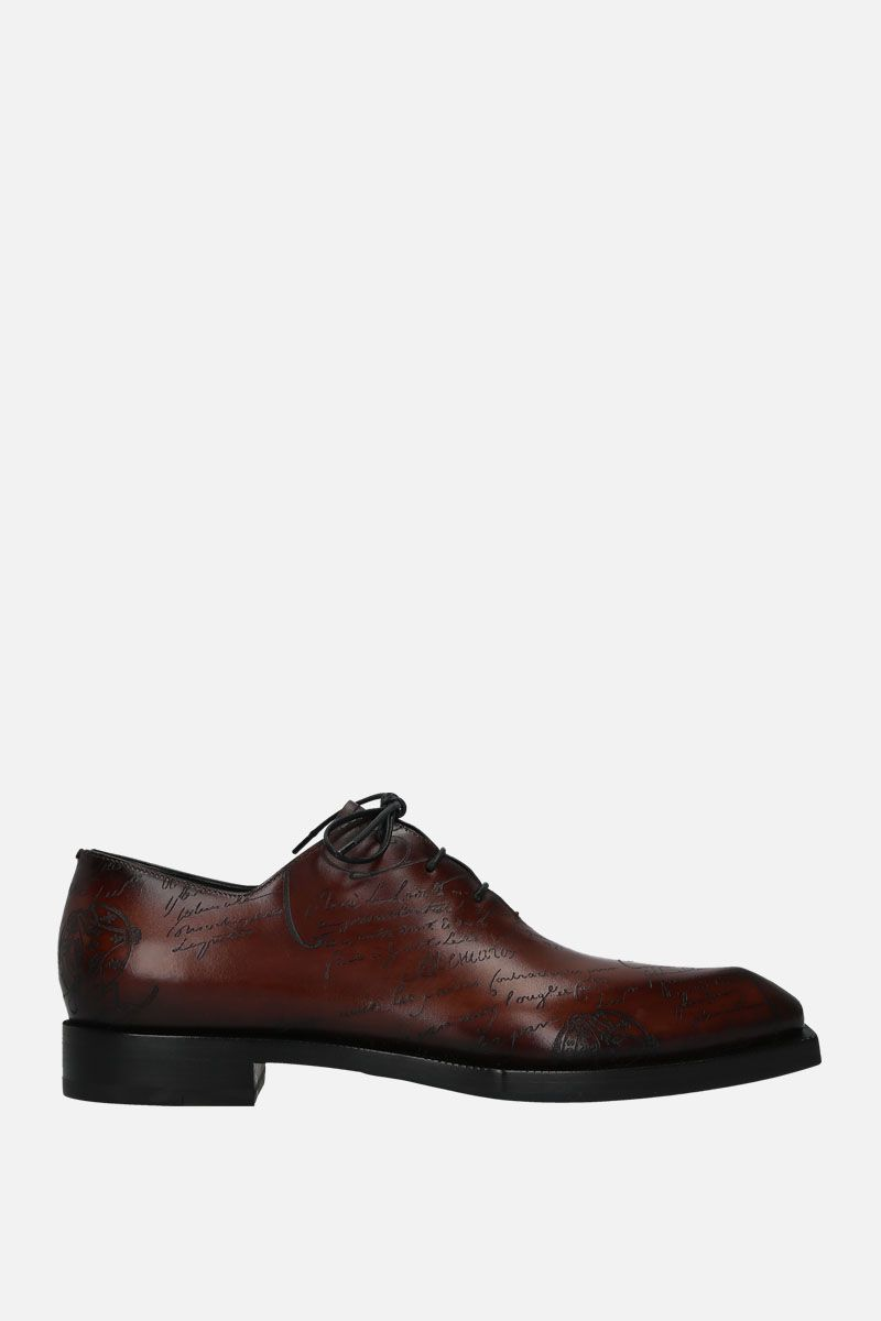 BERLUTI: Scritto leather oxford shoes Color Brown_1