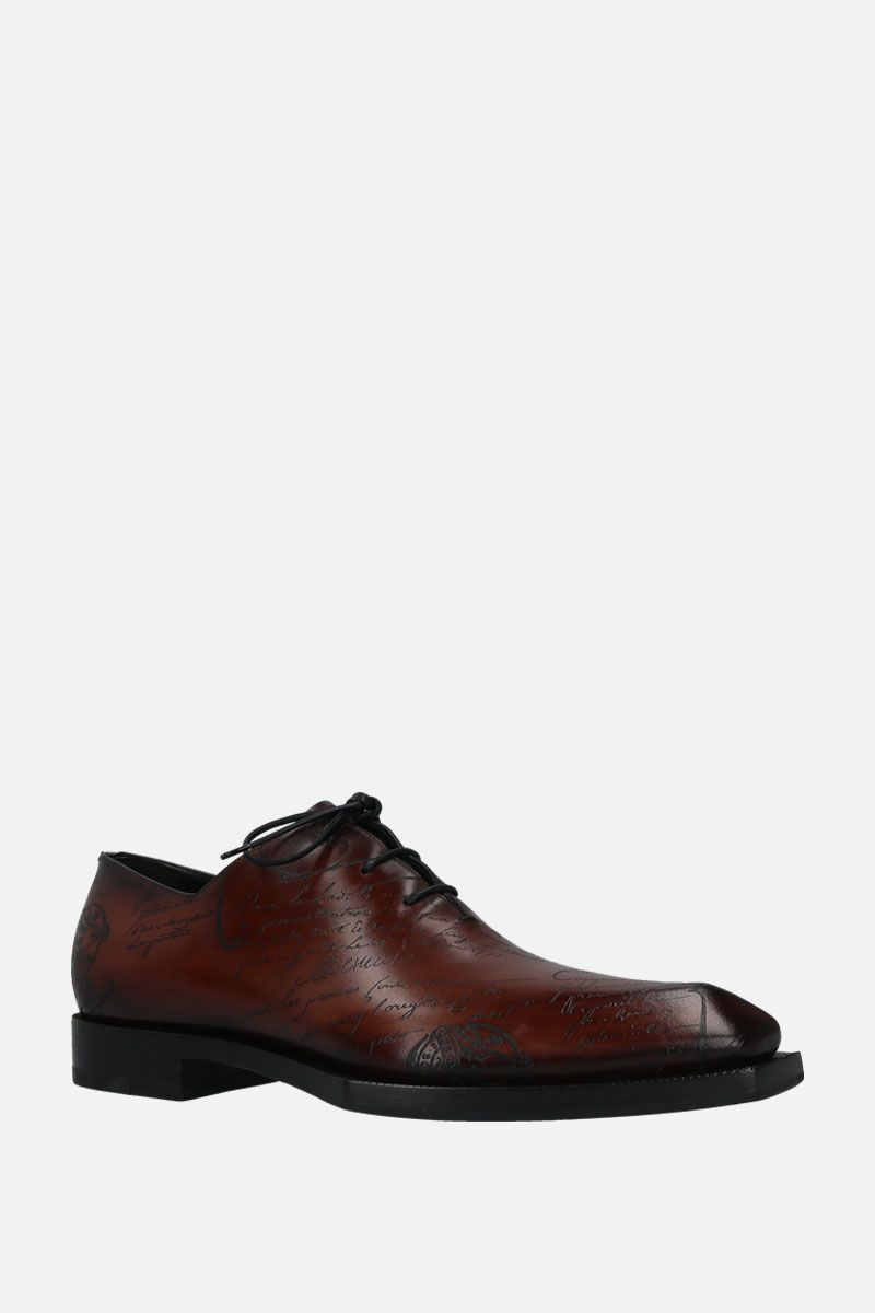 BERLUTI: Scritto leather oxford shoes Color Brown_2