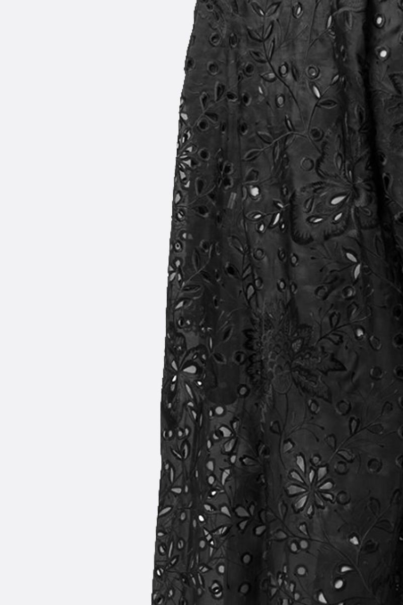 BIYAN: floral embroidered organdy overcoat Color Black_2