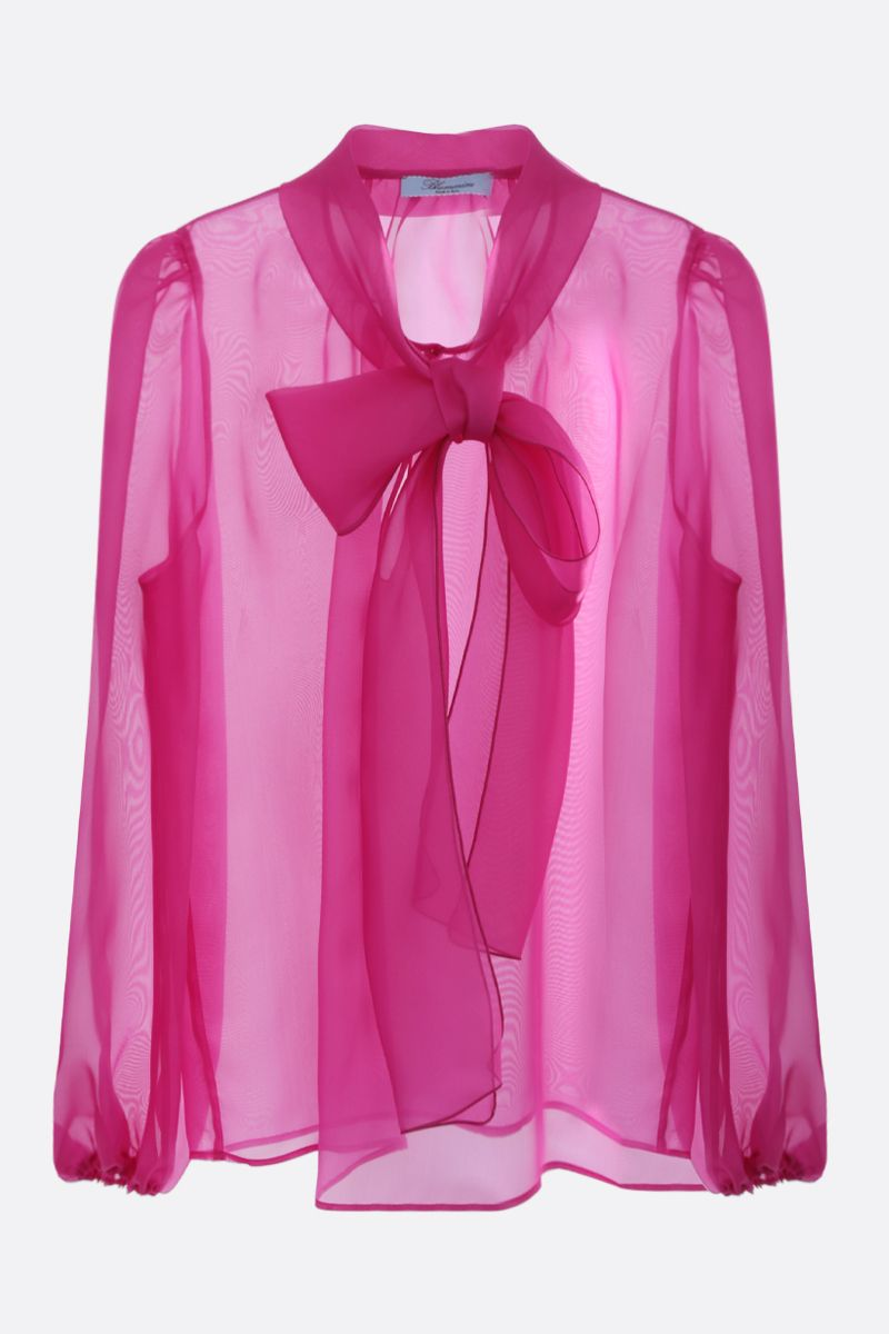 BLUMARINE: silk organdy blouse Color Pink_1