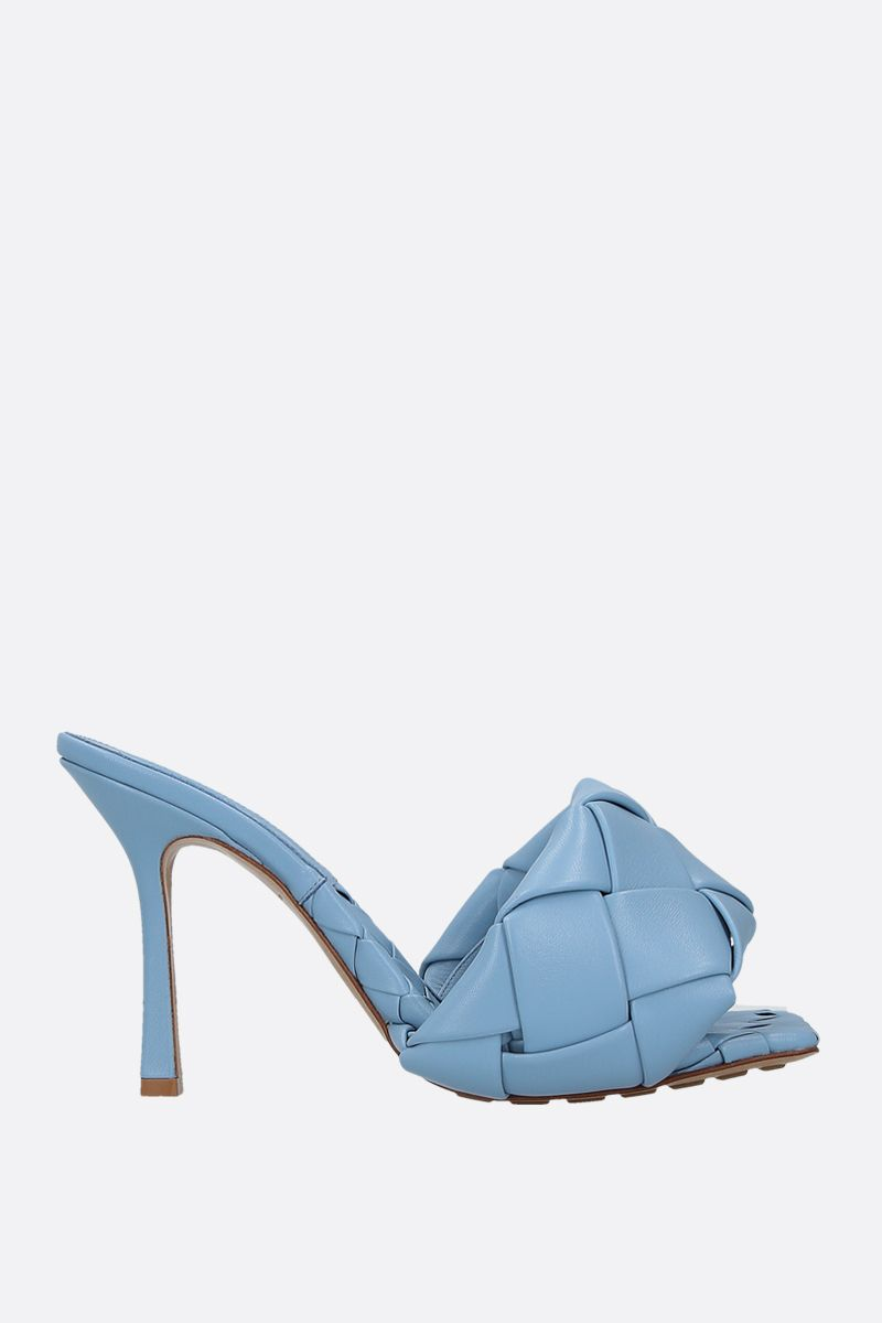 BOTTEGA VENETA: BV Lido sandals in Intrecciato nappa Color Blue_1