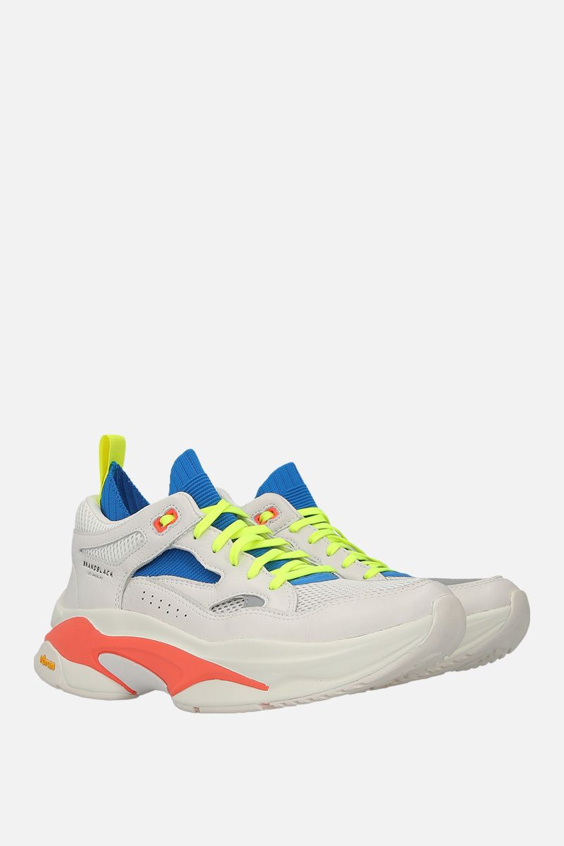 BRANDBLACK: Saga smooth leather and mesh sneakers Color Multicolor_2