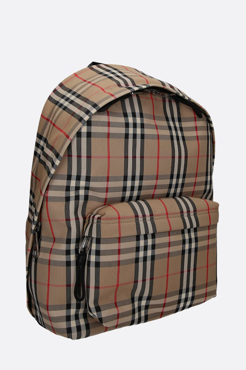 BURBERRY: Jett backpack in Vintage check nylon Color Brown_2