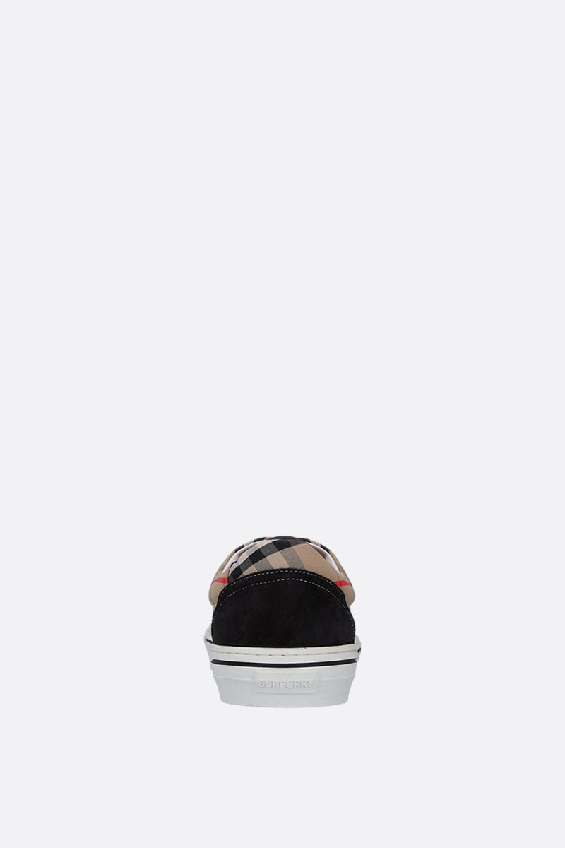 BURBERRY: Wilson sneakers in suede and Vintage check canvas Color Black_3