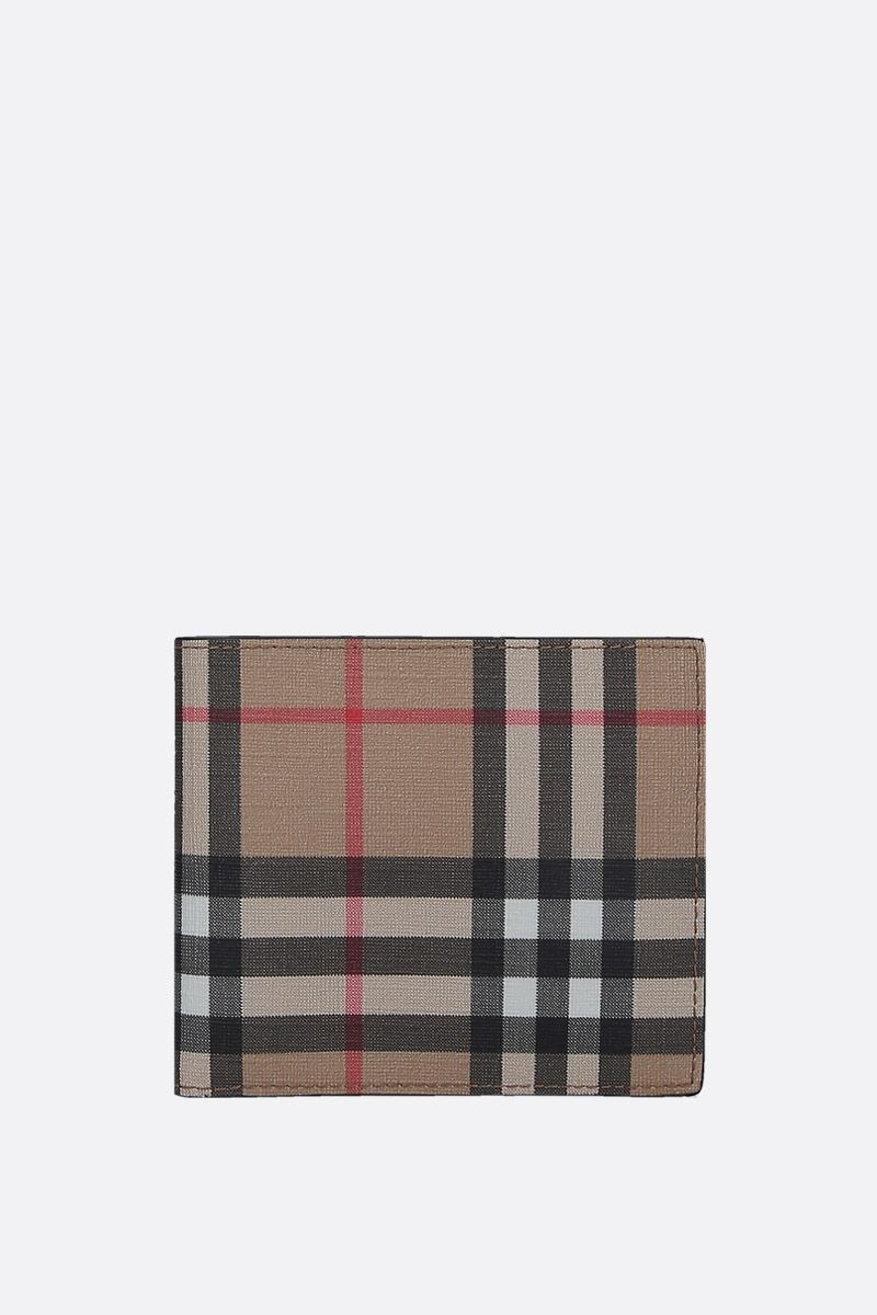 BURBERRY: Vintage check coated canvas billfold wallet_1
