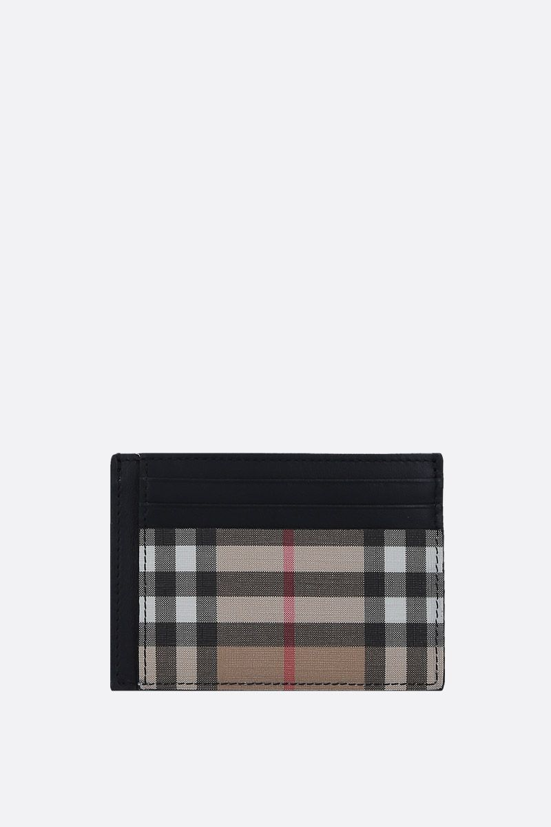 BURBERRY: Vintage check coated canvas card case_1