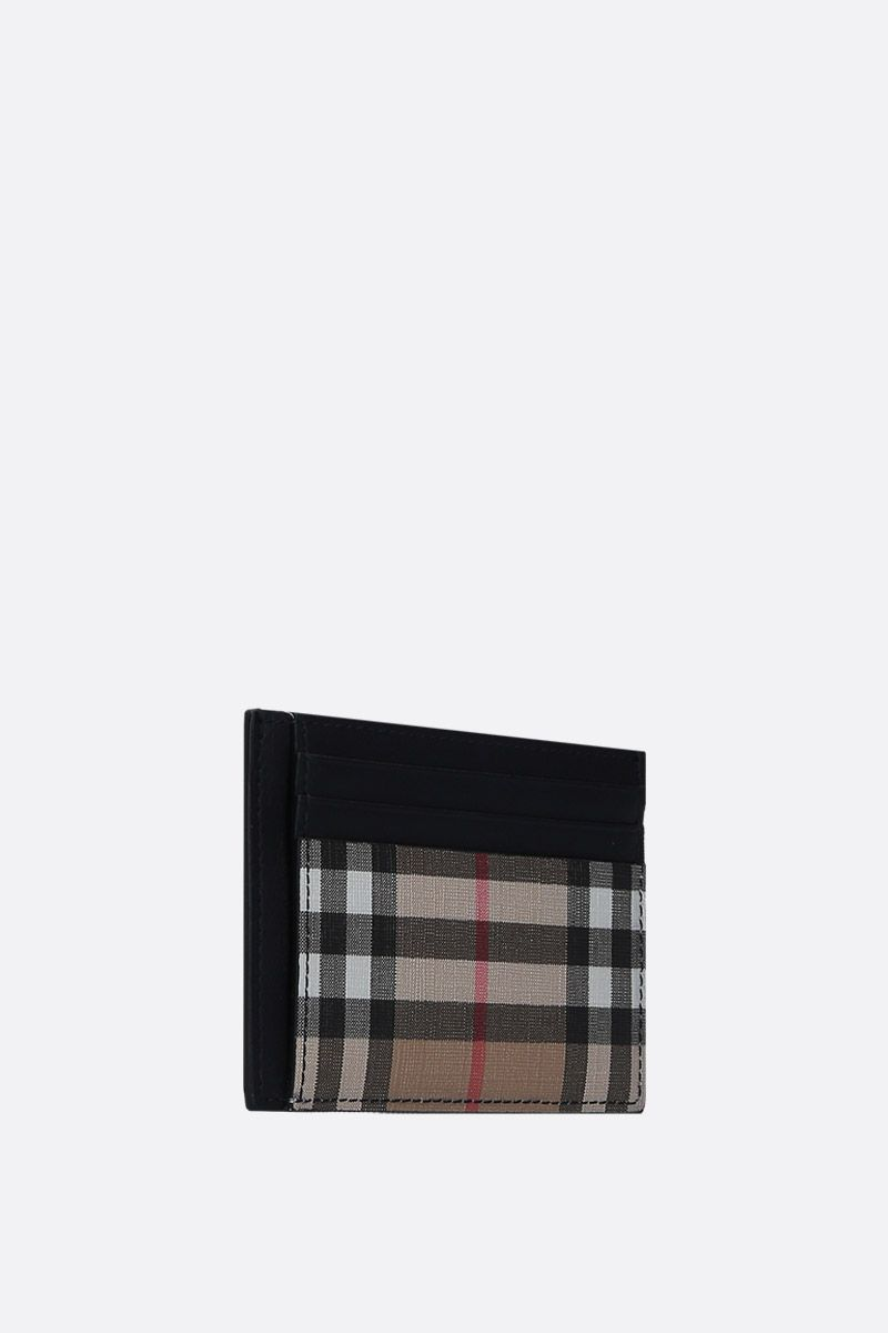 BURBERRY: Vintage check coated canvas card case_2