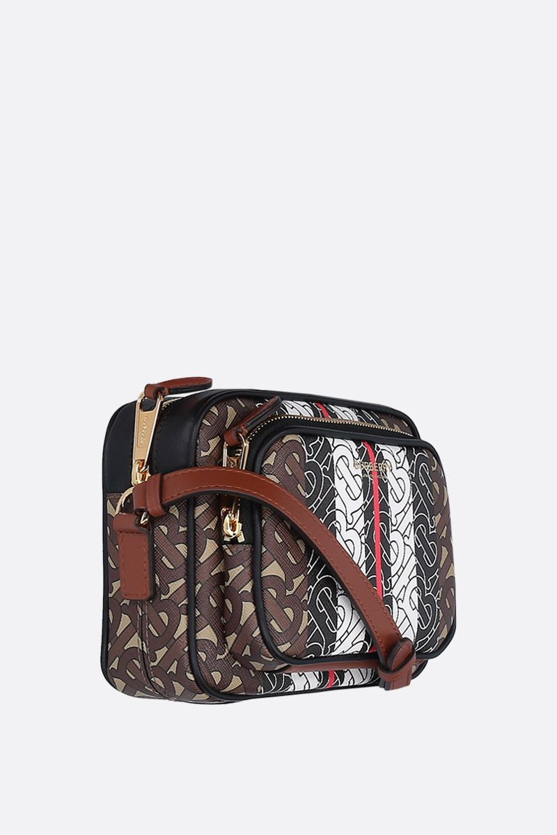 BURBERRY: borsa a spalla in canvas resinato stampa TB Monogram_2