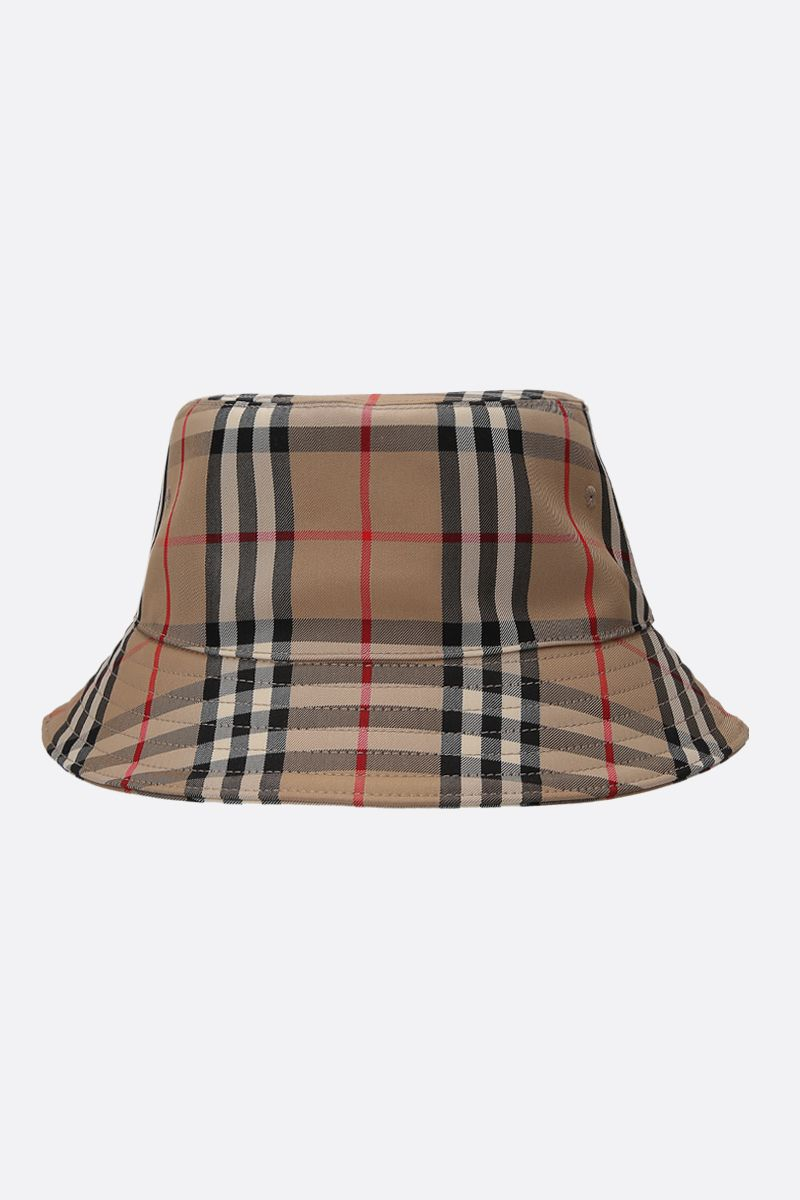 BURBERRY: Vintage check canvas bucket hat_1