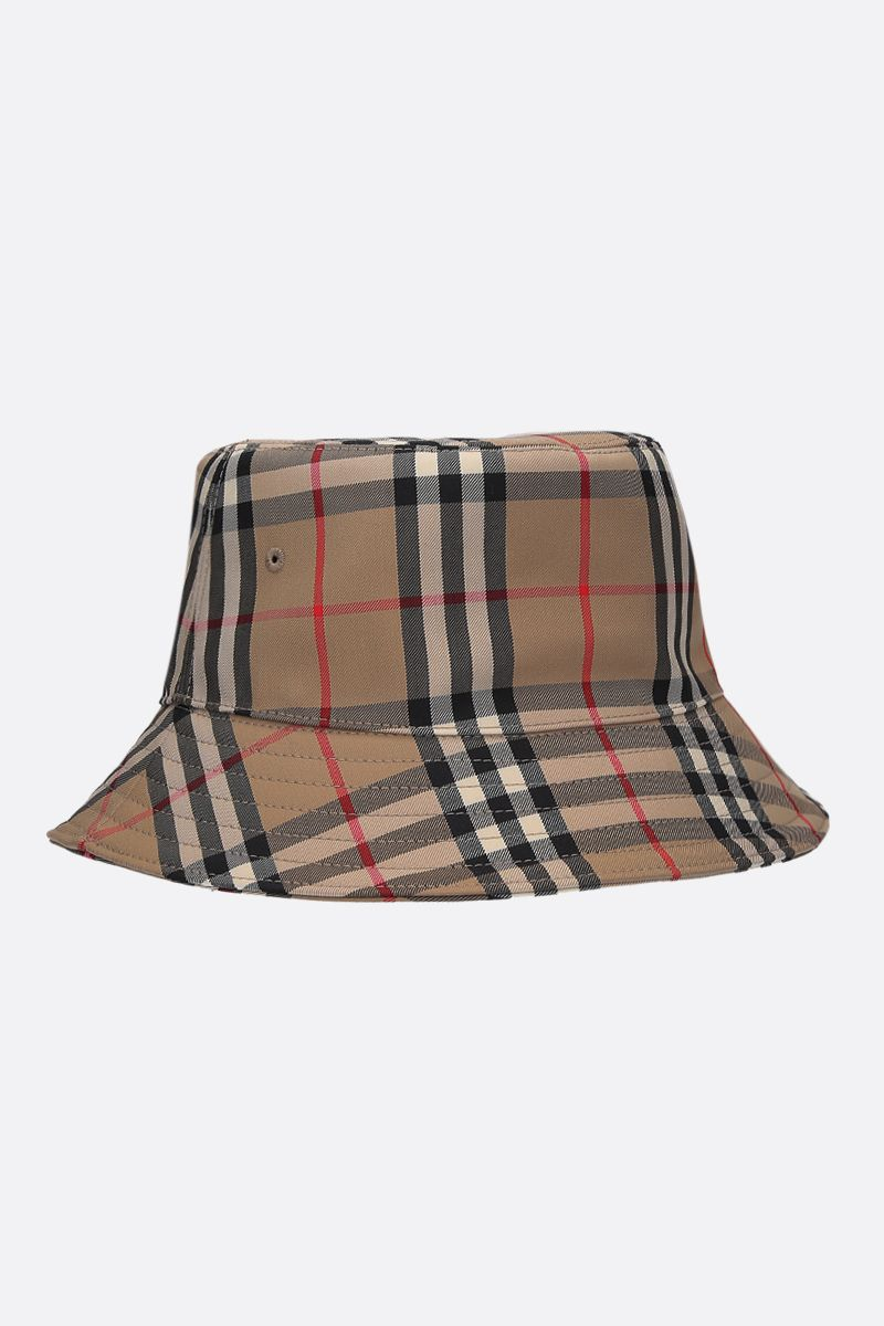 BURBERRY: Vintage check canvas bucket hat_2