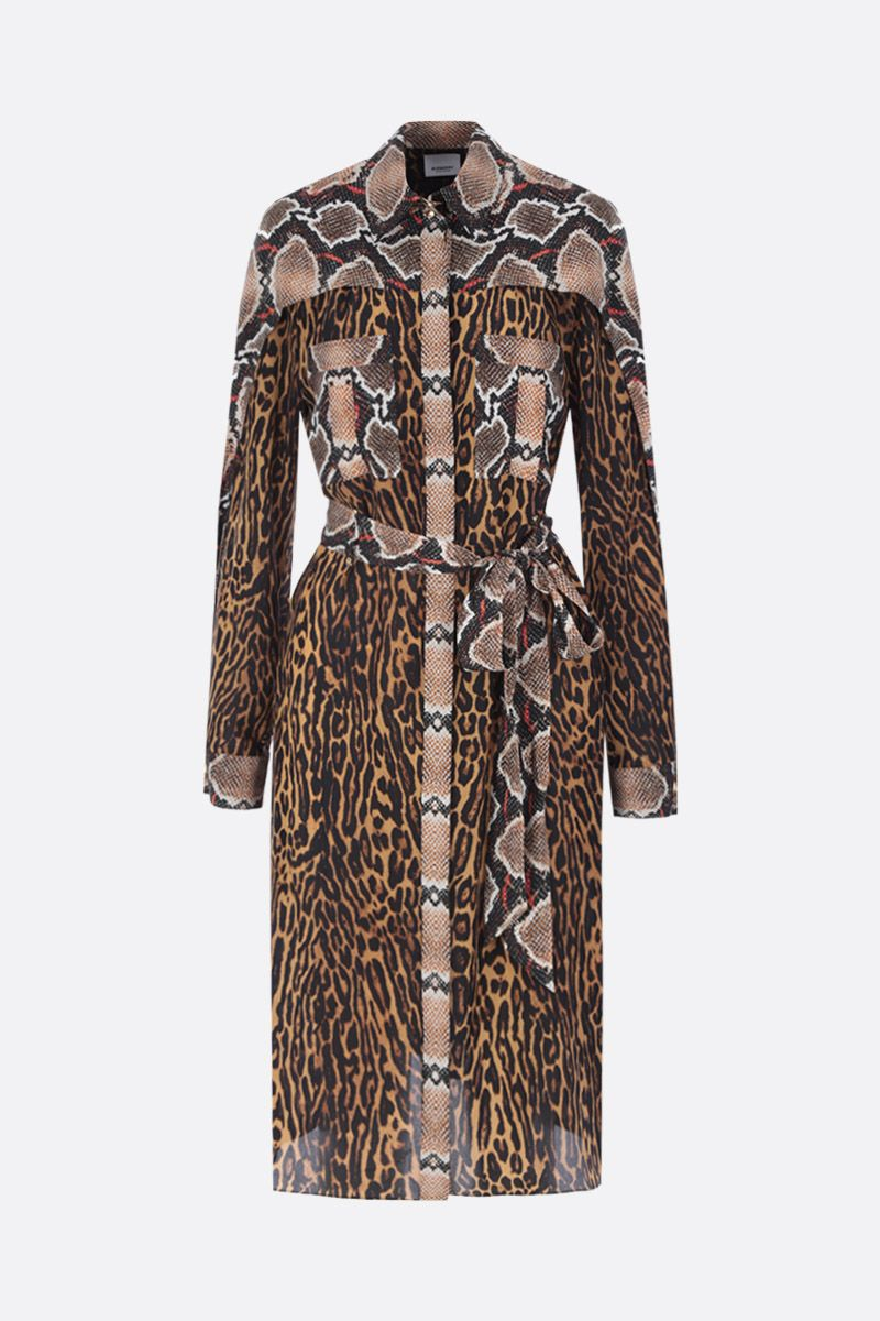BURBERRY: Costanza shirt dress in printed silk_1