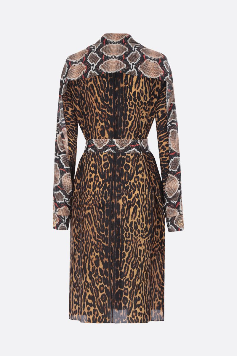 BURBERRY: Costanza shirt dress in printed silk_2