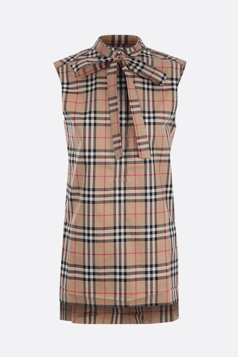 BURBERRY: Monique cotton blend sleeveless blouse_1