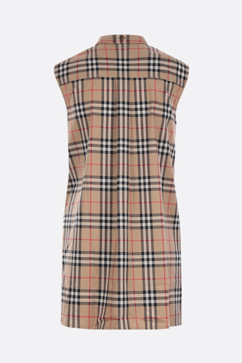 BURBERRY: Monique cotton blend sleeveless blouse_2